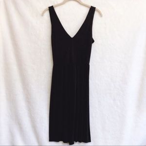 LOFT Black Cross Back Sleeveless Dress